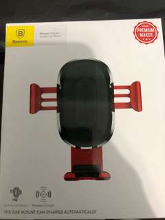 BNIB Baseus wireless car charger