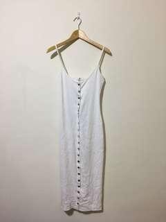 Ribbed White Dress