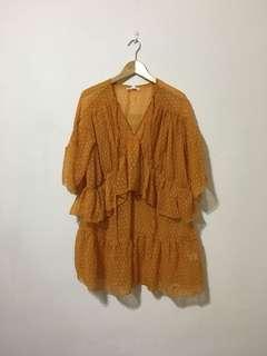 Missguided Orange Dress