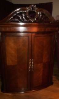 MAHOGANY ARMOIRE WITH MATCHING DRESSER