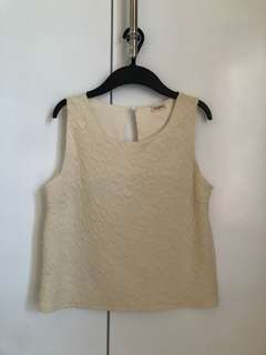 Jellybean textured sleeveless
