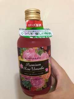Premium Rose Umeshu 日本健康梅酒 (玫瑰花味) bought from Japan last month
