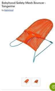 Babyhood safety mesh bouncer in Tangerine