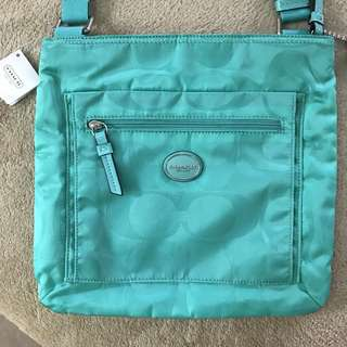 Authentic Coach Nylon sling bag