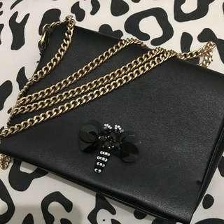 [AUTHENTIC] Zara Sling Bag (long chain strap) / Tas Sling Zara Original (strap rantai panjang)