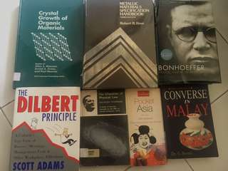 Various books and science textbooks