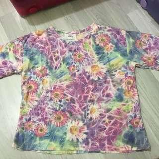 tie dye floral top