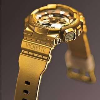 CASIO G-SHOCK VIOLETTE Vashtie Kola GMA-S110VK-9ADR Gold New Genuine BABY-G
