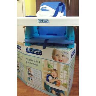 The First Years Portable 3 in 1 Booster Seat  (Free Feeding Spoon)