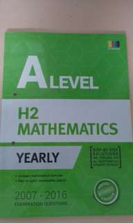 A-Level H2 Math Yearly TYS