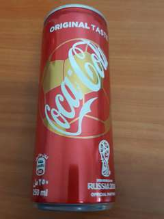 UAE World Cup 2018 Coca-Cola Original Can 250ml with content