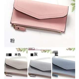 🚚 新款韓版女士錢包中長款手機包多功能拉鍊皮夾長夾