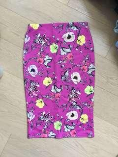 MISS SELFRIDGE Printed Midi Skirt