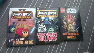 Angry Birds Star Wars and Lego Star Wars Books (Set of 3)
