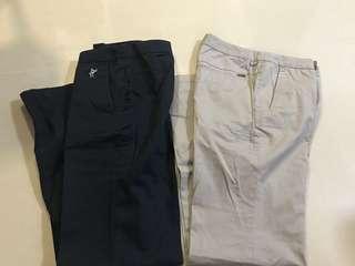 Ashworth women pants size 2 (cigarette pants, chino, navy)
