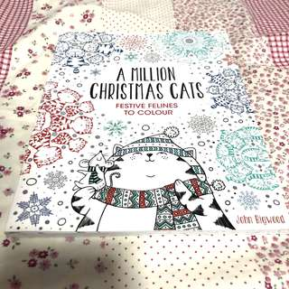 Christmas cats colouring book