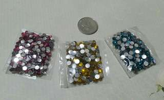 Set of 3 Packs of Crafting Gems in 3 Colors