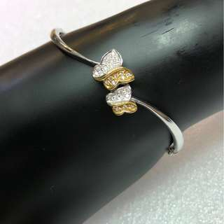 D0.19ct 18K diamond bangle 鑽石手鐲