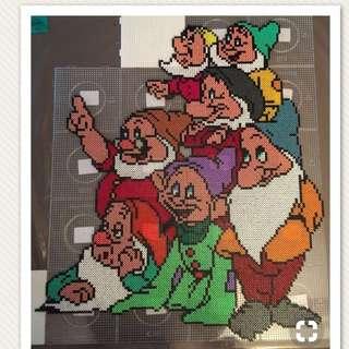 7 Dwarfs Hama Bead Design