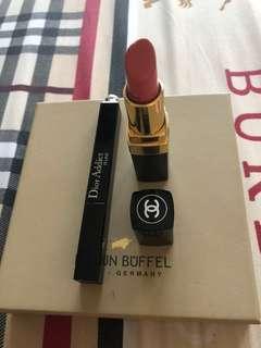 Eyeliner Dior dan lipstick Chanel 💯 authentic