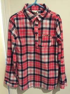 Girl's Checkered Top (L/S)