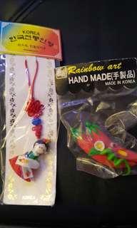 全新韓國手信掛飾一個同辣椒磁石一個