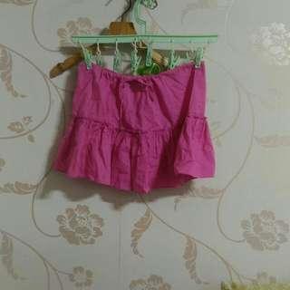 🚚 小孩棉質桃色裙子平面公分腰圍20到30長度30