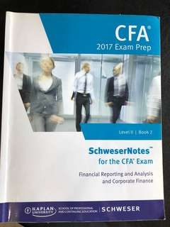 CFA Level  II 2017 Exam Prep Book 2