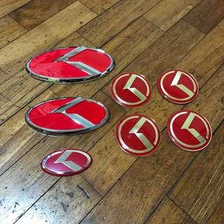 Kia K3 Sport Red Emblem Set