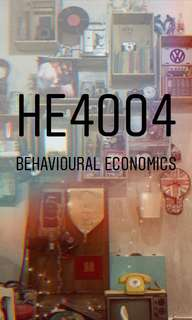 HE4004 Behavioural Economics