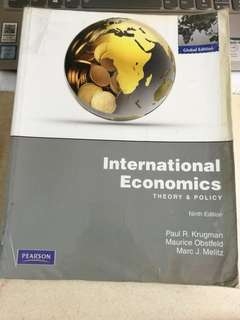 International Economics theory and policy 9th edition