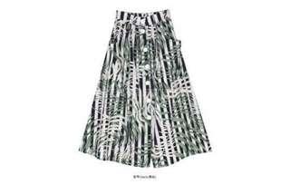 🚚 正韓排釦麻料裙