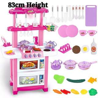 83cm Kitchen Cooking Toy Play Set