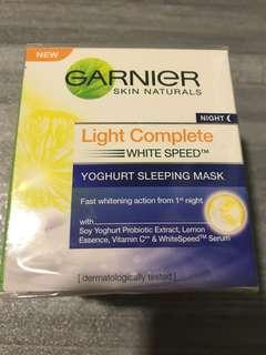 Garnier yoghurt sleeping mask