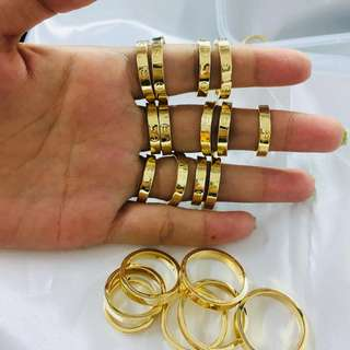 Cartier Couple Ring 18k Saudi Gold size 5&6