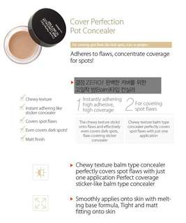 The Saem COVER PERFECTION POT CONCEALER NO 1 CLEAR BEIGE