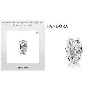 全新 Pandora Silver Spacer 100% New