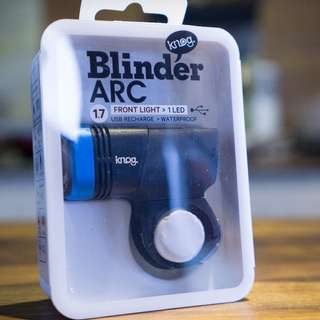 Knog Blinder ARC 1.7 Bicycle Front Light (USB Rechargeable)