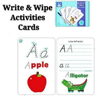 Alphabets Activities Flash Cards Early Childhood Learning Resources Set