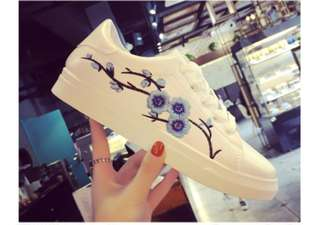 BN Blue Floral Embroidery shoes