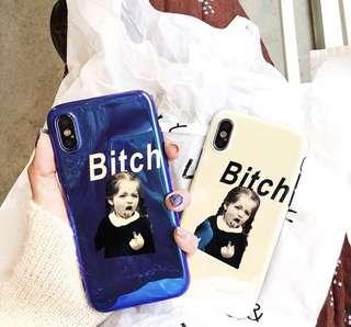 🚚 ✨歐美惡搞女孩藍光手機殼✨