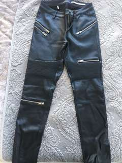 Zara leather pants - brand new