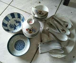 老碗盤及美農燒九谷燒