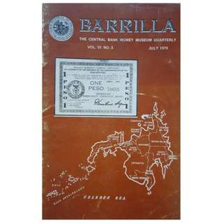 BARILLA   July 1979. Central Bank Money Museum Journal