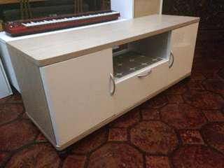 White and brown Tv Rack