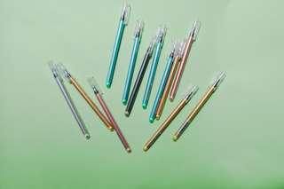 Metallic gel pens!