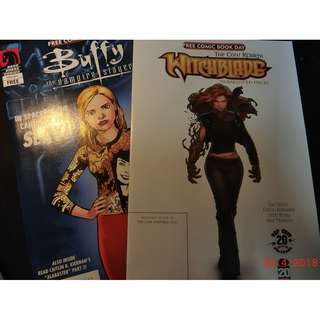 Free comic book day collection 5, Buffy and hitchblade