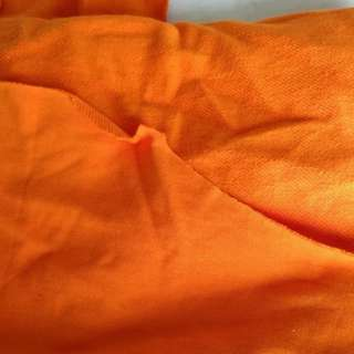 Imported Orange cotton knitted sweater fabric