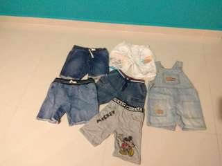 free branded shorts for 3-4 y/o