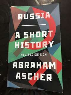 Russia A Short History By Abraham Asher
